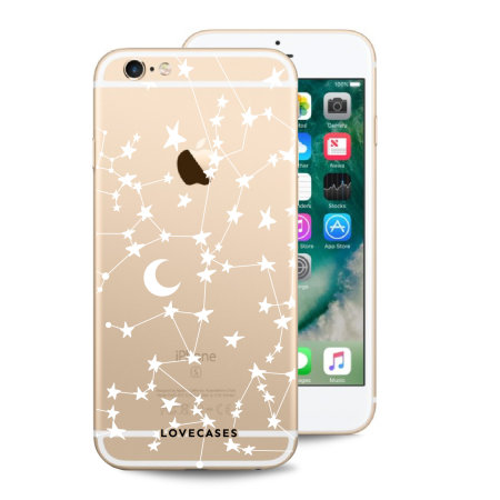 LoveCases iPhone 6S Gel Case - White Stars And Moons