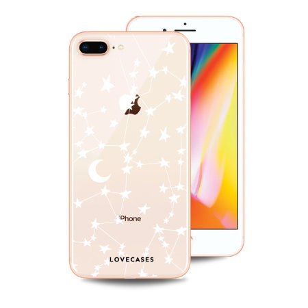 LoveCases iPhone 8 Plus Clear Starry Phone Case