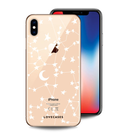 LoveCases iPhone X Clear Starry Phone Case