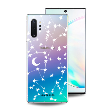 LoveCases Samsung Note 10 Plus Starry Design Clear Phone Case