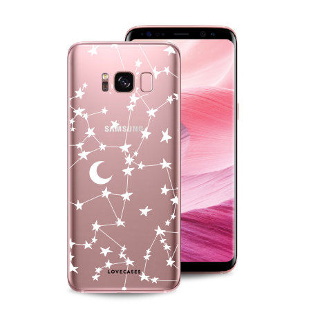 LoveCases Samsung S8 Starry Design Clear Phone Case