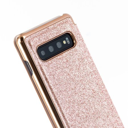 Ted Baker Mirror Glitsee Samsung Galaxy S10 Plus Case - Rose Gold