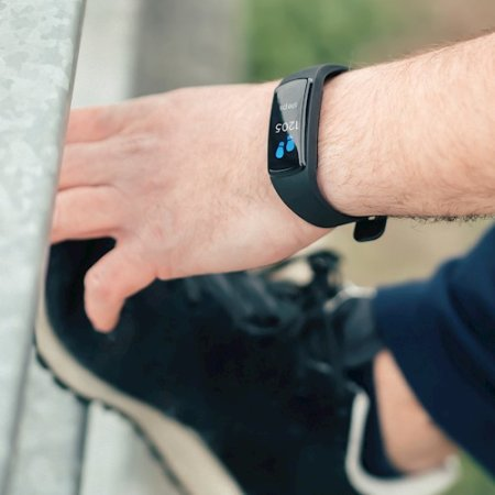 Forever Fitness Tracker and Heart Rate Monitor Bracelet  - Black