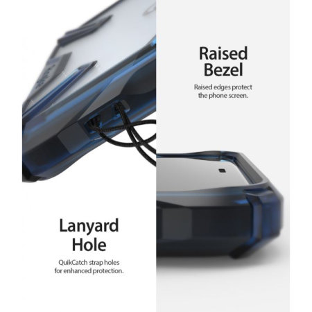 Ringke Fusion X Google Pixel 4 Tough Case - Space Blue