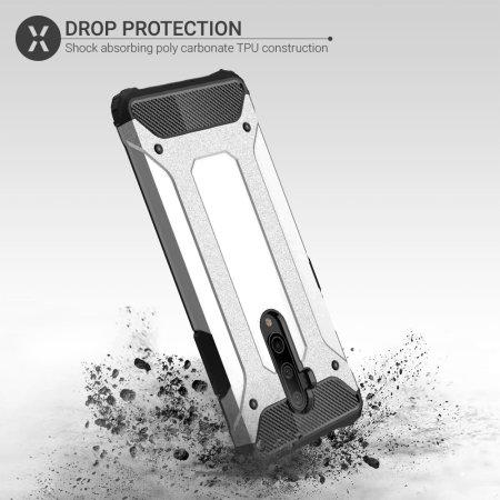 Olixar Delta Armour Oneplus 7T Pro Protective Case - Silver