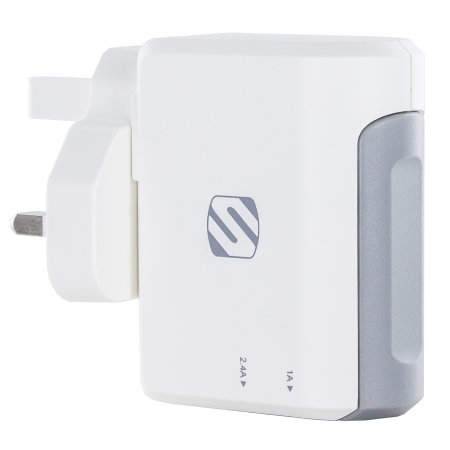 Scosche StrikeBase Dual Port USB Wall Charger - UK AC Adaptor