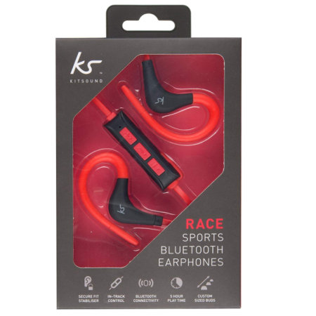 Écouteurs sans fil KitSound Bluetooth Race Sports – Rouge