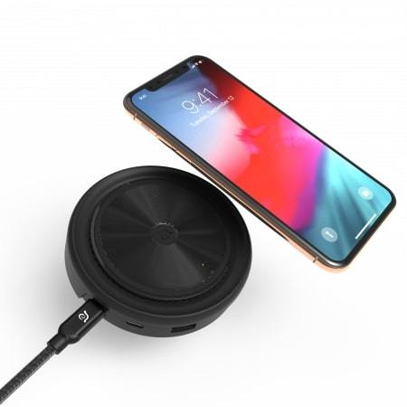 Adam Elements CASA Wireless Charging Pad & Multi-Function PD Hub-Black