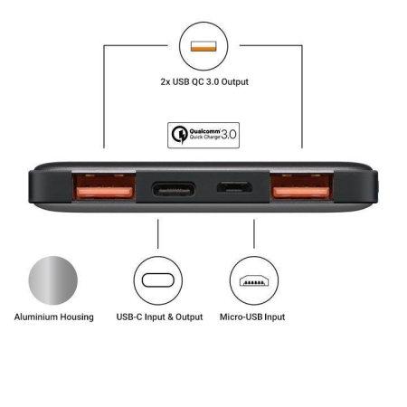 Goobay USB-C 15,000mAh Google Pixel 4 Power Bank - Grey