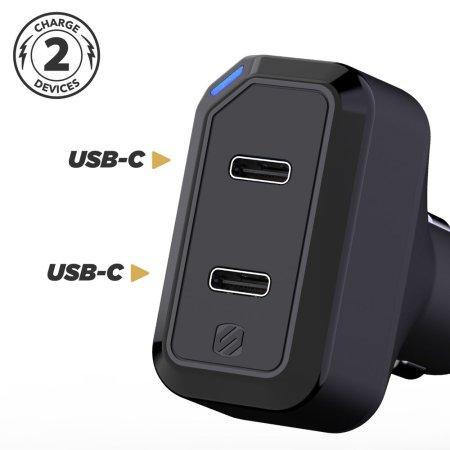 Scosche StrikeDrive Dual USB C PD iPhone 11 Pro Max Car