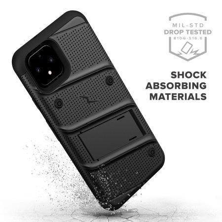 Zizo Bolt Series Google Pixel 4 XL Case & Screen Protector - Black