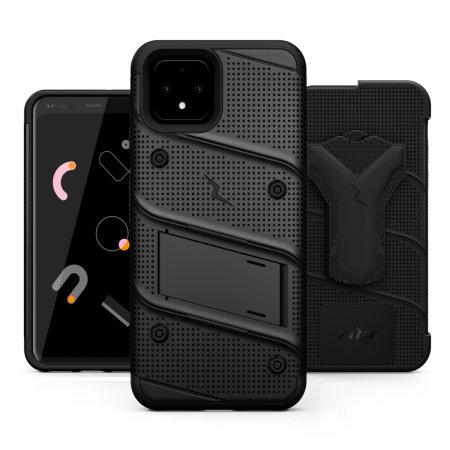 Zizo Bolt Series Google Pixel 4 Case & Screen Protector - Black
