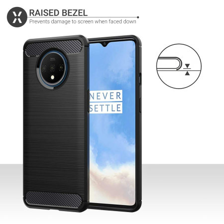 Olixar Sentinel OnePlus 7T Case & Glass Screen Protector - Black