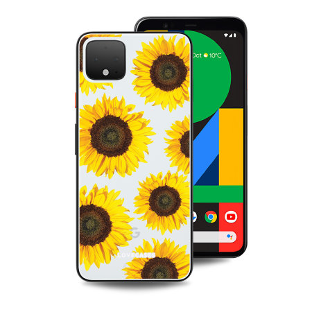 LoveCases Google Pixel 4 XL Sunflower Clear Phone Case