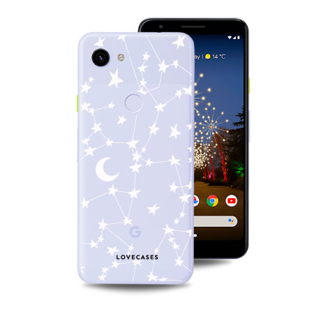 LoveCases Google Pixel 3A Clear Starry Phone Case