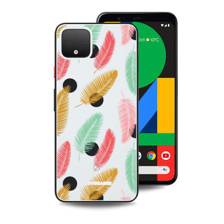 LoveCases Google Pixel 4 Polka Leaf Clear Phone Case