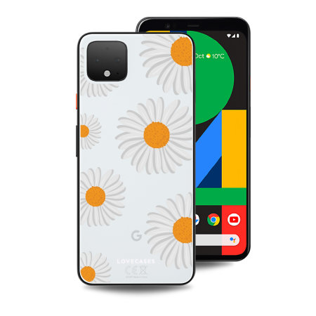 LoveCases Google Pixel 4 XL Clear Daisy Case