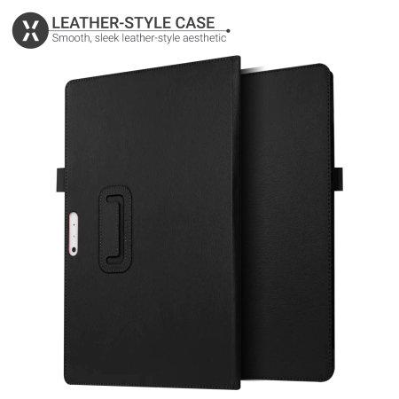 Olixar Leather-style Microsoft Surface Pro 7 Stand Case - Black
