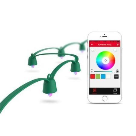 MiPow PLAYBULB Smart LED Decor Light - 10m with UK AC Adaptor