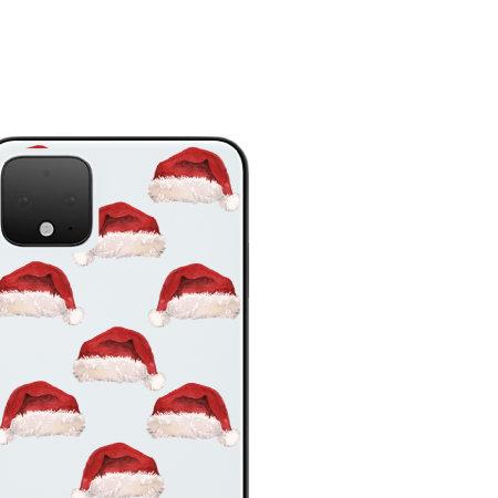 LoveCases Google Pixel 4 XL Santa Hat Clear Phone Case