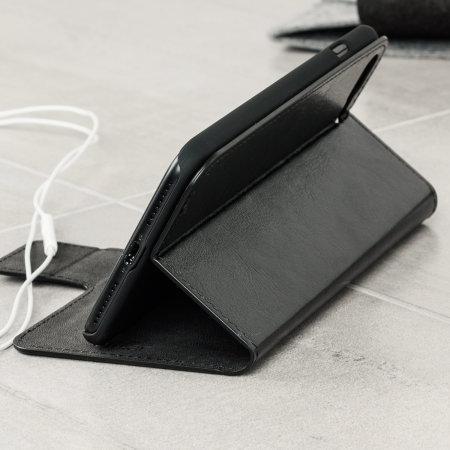 Funda Motorola One Macro Olixar Estilo Cuero Tipo Cartera - Negra