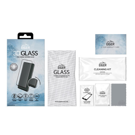 Eiger 3D Samsung A71 Tempered Glass Screen Protector - Clear / Black