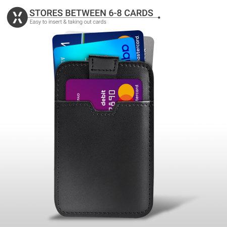 Porte-cartes Olixar en cuir véritable avec blocage RFID – Noir