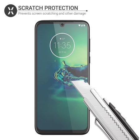 Olixar Motorola Moto G8 Plus Film Screenprotector - 2 eenheden