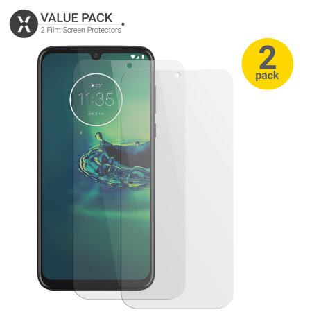 Olixar Motorola Moto G8 Plus Film Screen Protector 2-in-1 Pack