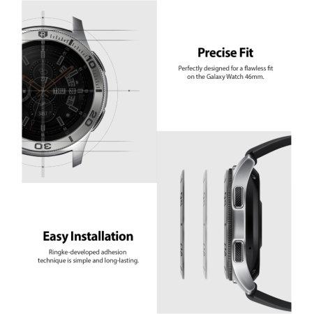 Ringke Galaxy Watch 46mm/Gear S3 Frontier & Classic Bezel Ring- Silver
