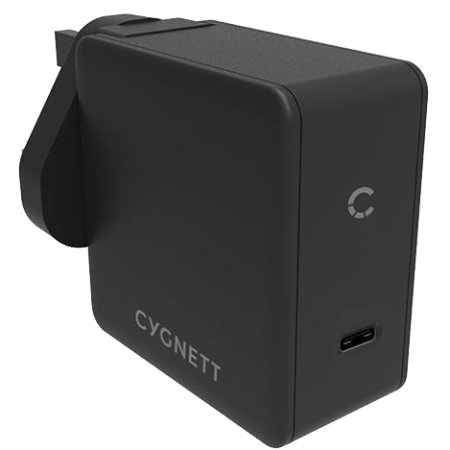 Cygnett Flow+ USB-C PD Wall Charger 60W - UK Plug - Black