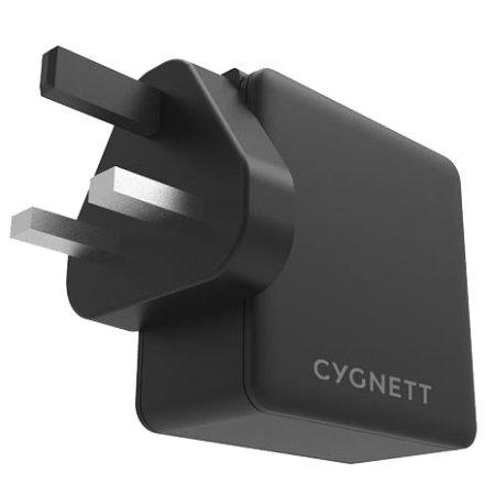Cygnett Flow+ USB-C PD Wall Charger 60W - UK Plug - Black