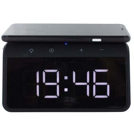 KSIX Pixel 4 XL Alarm Clock w Qi Fast Charge Wireless Charger - Black