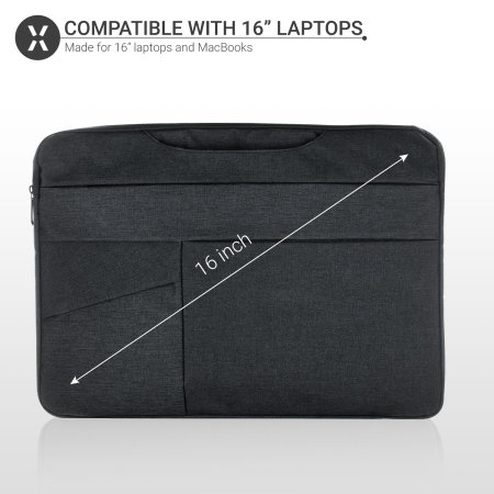 "Olixar Macbook Pro 16"" Canvas Bag With Handle - Black"