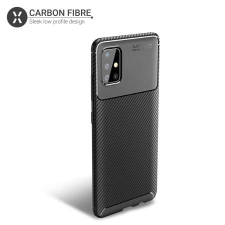 Olixar Carbon Fibre Samsung Galaxy A71 Case - Black