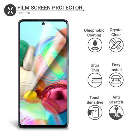 Olixar Samsung Galaxy A71 Film Screen Protector 2-in-1 Pack