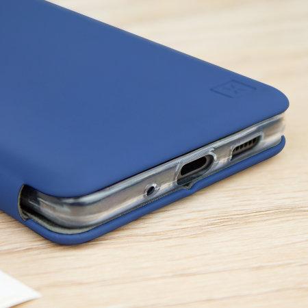 Olixar Soft Silicone Samsung Galaxy S20 Ultra Wallet Case - Navy Blue