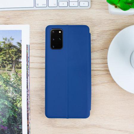 Olixar Soft Silicone Samsung Galaxy S20 Plus Wallet Case - Navy Blue