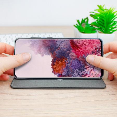 Olixar Soft Silicone Samsung Galaxy S20 Wallet Case - Black