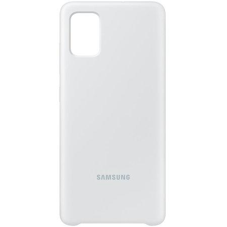 Official Samsung Galaxy A71 Silicone Cover Case - Silver