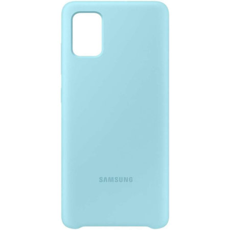 Official Samsung Galaxy A71 Silicone Cover Case - Blue