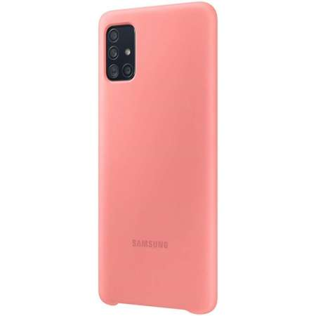 Official Samsung Galaxy A51 Silicone Cover Case - Pink
