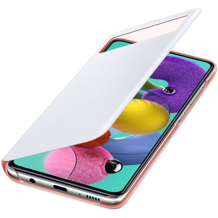 Official Samsung Galaxy A71 S-View Flip Cover Case - White