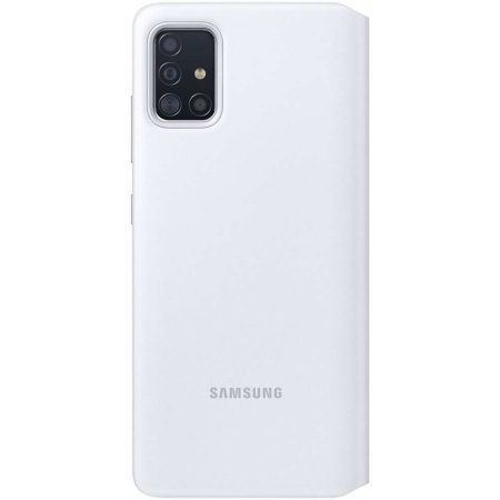 Official Samsung Galaxy A51 S-View Flip Cover Case - White