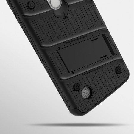 Funda LG Risio 2 Zizo Bolt con Protector de Pantalla - Negra