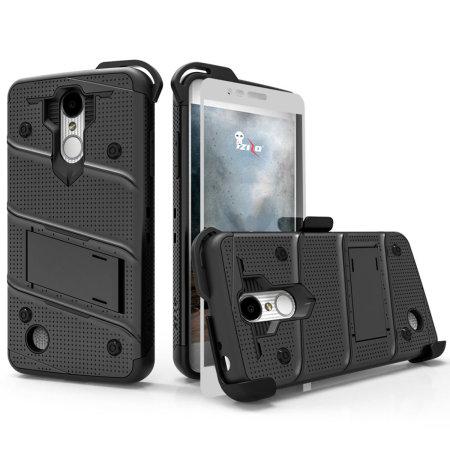Funda LG K8S Zizo Bolt con Protector de Pantalla - Negra