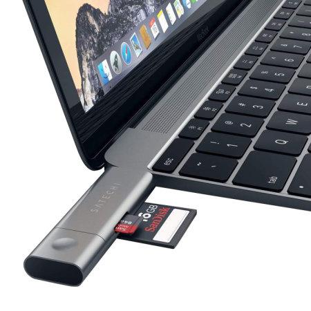 Satechi Aluminium Type-C USB 3.0 & Micro/SD Card Reader - Space Grey