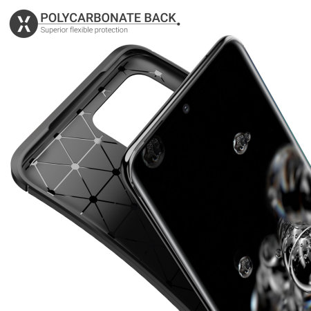 Olixar Carbon Fibre Samsung Galaxy S20 Ultra Case - Black