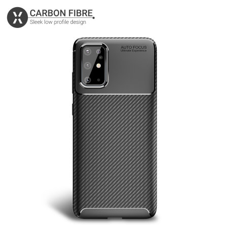 Olixar Carbon Fibre Samsung Galaxy S20 Plus Case - Black