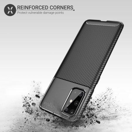 Olixar Carbon Fibre Samsung Galaxy S20 Plus Case - Black